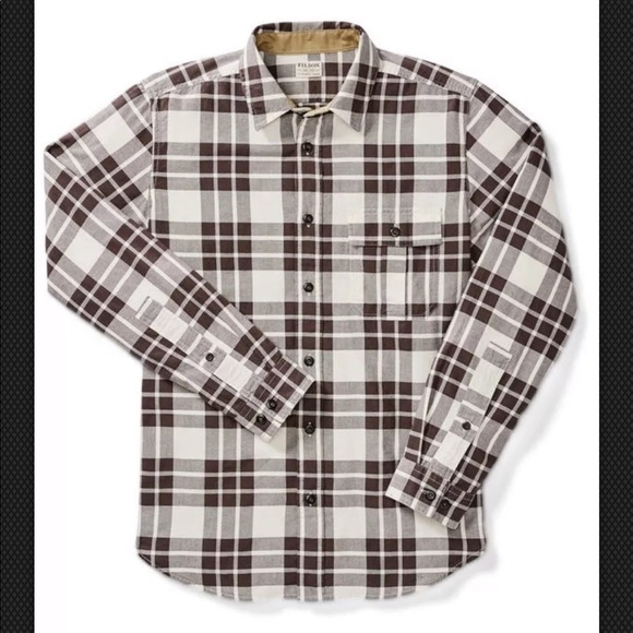 Filson Other - New Filson Cream & Brown Plaid Rustic Oxford Shirt